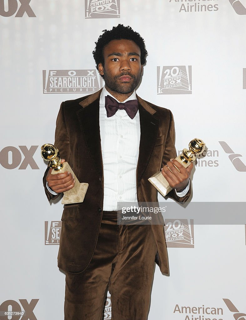 Actor Donald Glover, winner of Best Actor in a Television Series - Musical or Comedy for 'Atlanta' and Best Television Series - Musical or Comedy for 'Atlanta', attends FOX and FX's 2017 Golden Globe Awards after party at The Beverly Hilton Hotel on January 8, 2017 in Beverly Hills, California.