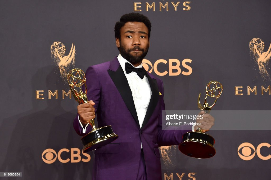 Actor Donald Glover, winner of the award for Outstanding Lead Actor in a Comedy Series for 'Atlanta,' poses in the press room during the 69th Annual Primetime Emmy Awards at Microsoft Theater on September 17, 2017 in Los Angeles, California.