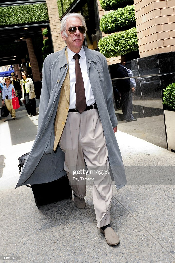 Actor Donald Sutherland leaves his Midtown Manhattan hotel on June 17, 2009 in New York City.