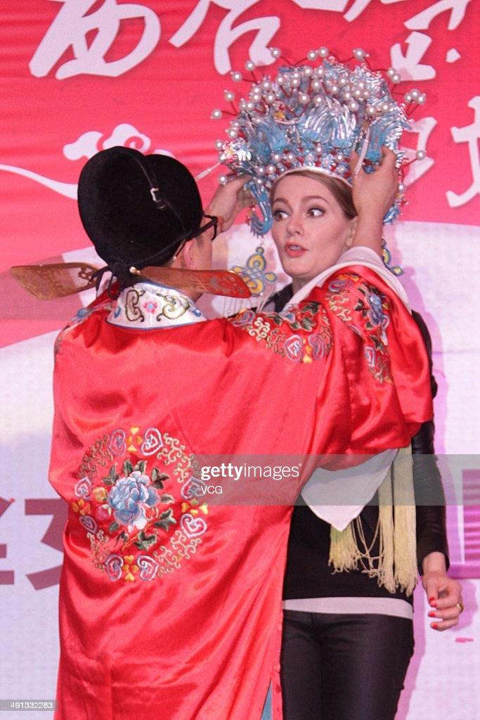 German Actress Martina Hill Visits China