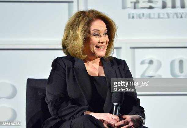 Actor Donna Pescow speaks onstage at the screening of 'Saturday Night Fever' during the 2017 TCM Classic Film Festival on April 8 2017 in Los Angeles...