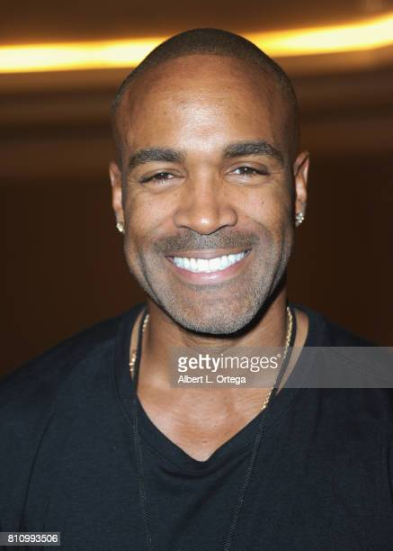 Actor Donnell Turner signs autographs at The Hollywood Show held at Westin LAX Hotel on July 8 2017 in Los Angeles California