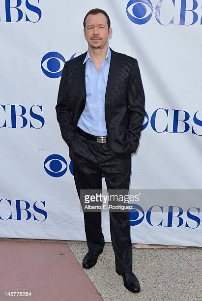 Actor Donnie Wahlberg arrives to a screening and panel discussion of CBS's 'Blue Bloods' at Leonard H Goldenson Theatre on June 5 2012 in North...
