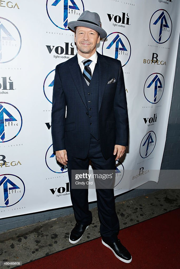 Actor <a gi-track='captionPersonalityLinkClicked' href=/galleries/search?phrase=Donnie+Wahlberg&family=editorial&specificpeople=220537 ng-click='$event.stopPropagation()'>Donnie Wahlberg</a> attends the grand opening of The Attic Rooftop Lounge on June 11, 2014 in New York City.