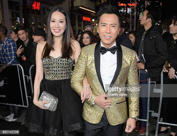 Actor Donnie Yen and model Cissy Wang attend the LA Premiere of the Paramount Pictures title 'xXx Return of Xander Cage' at TCL Chinese Theatre IMAX...