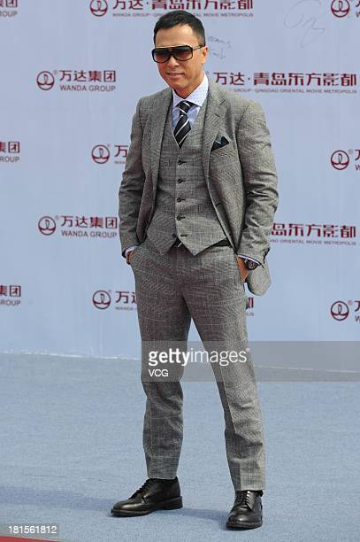 Actor Donnie Yen attends a launching ceremony for the Qingdao Oriental Movie Metropolis on September 22 2013 in Qingdao China