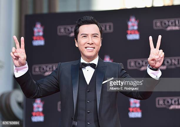 Actor Donnie Yen attends his Hand And Footprint Ceremony at TCL Chinese Theatre on November 30 2016 in Hollywood California
