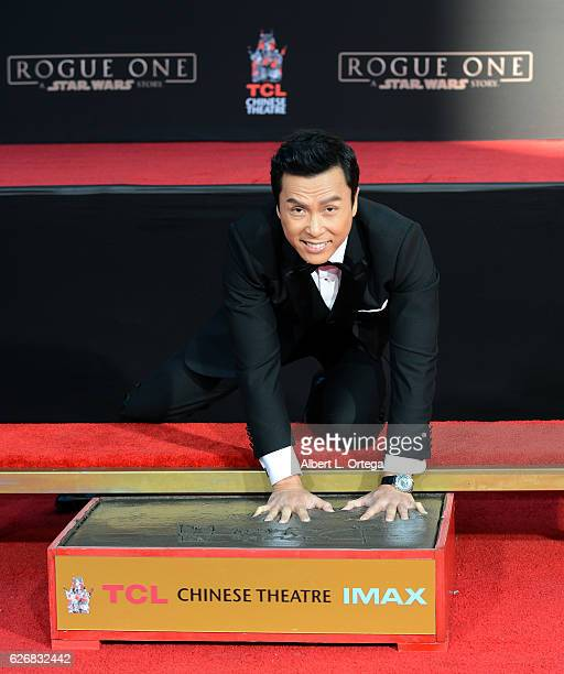 Actor Donnie Yen attends his hand and footprint ceremony held at TCL Chinese Theatre on November 30 2016 in Hollywood California