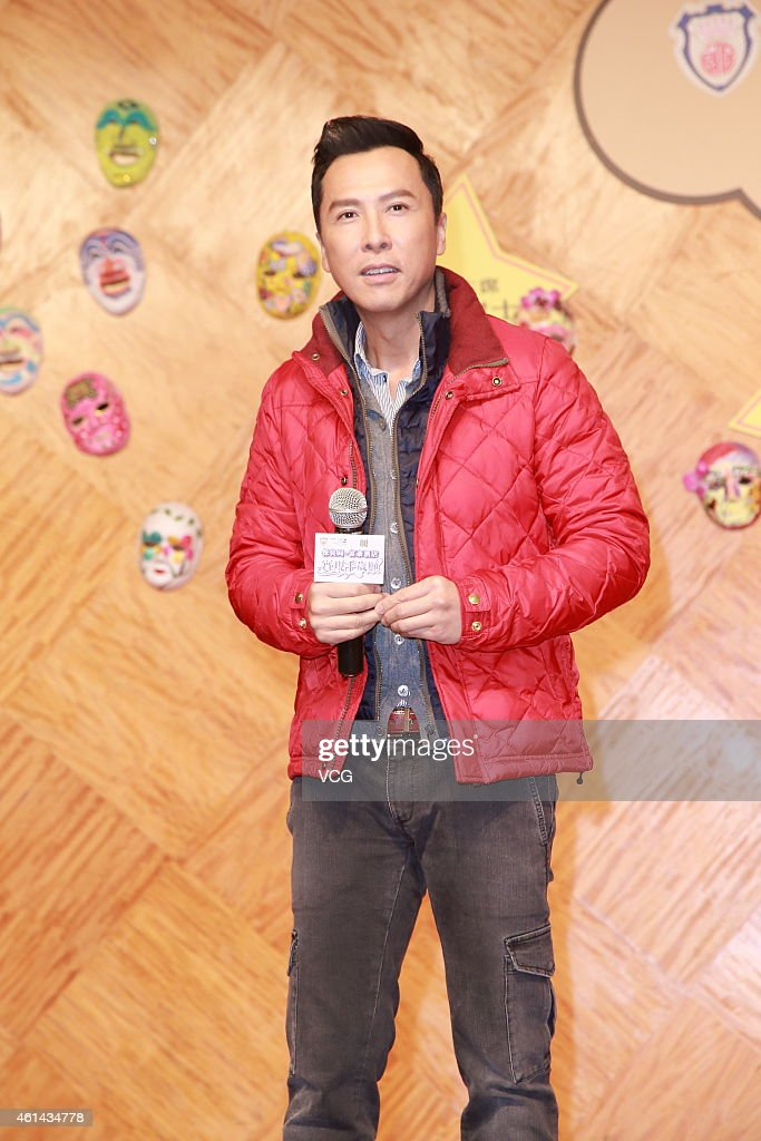 Actor Donnie Yen attends Hongkong Po Leung Puk charity event on January 12 2015 in Hongkong China