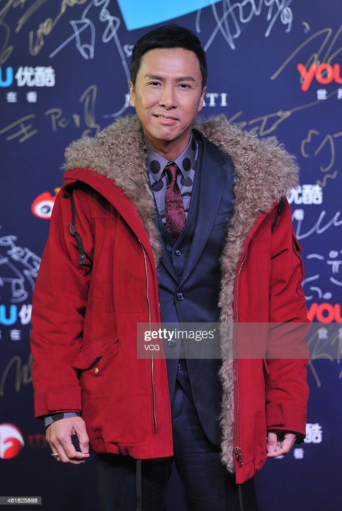 Actor Donnie Yen attends the '2014 Youku Night' at National Aquatics Center on January 16 2015 in Beijing China