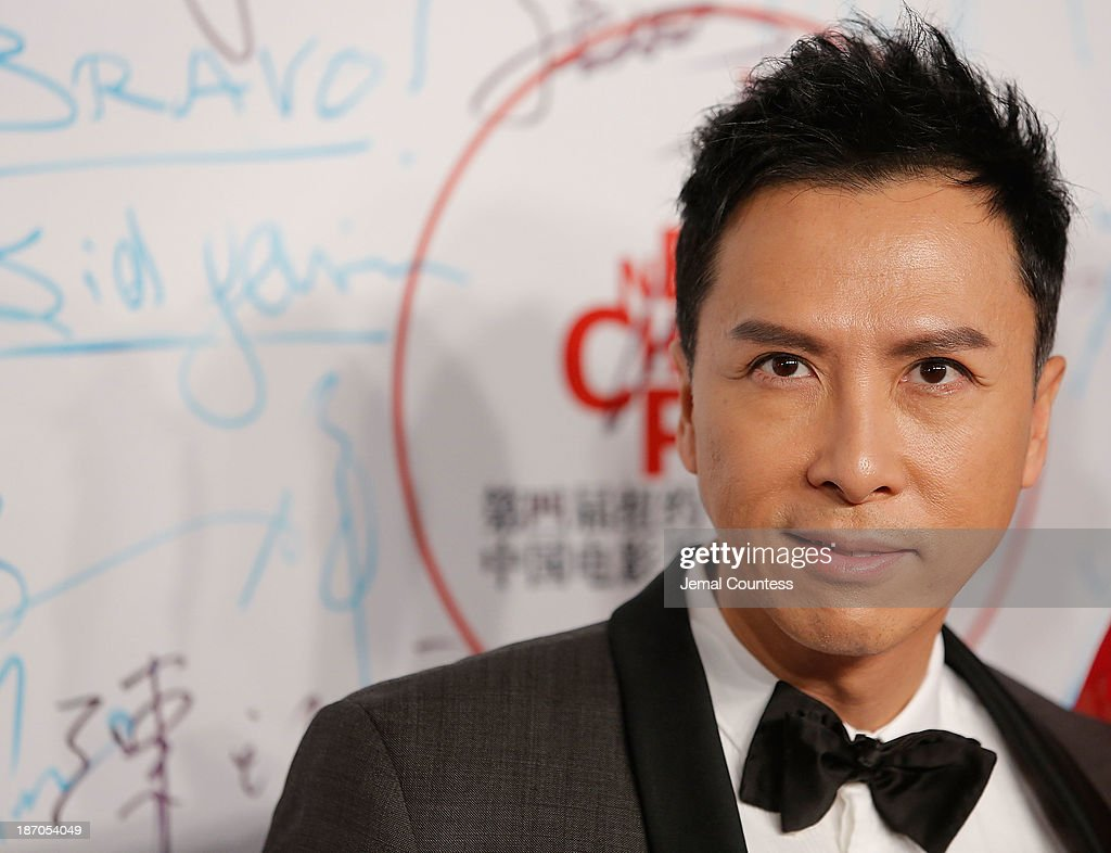 Actor Donnie Yen attends the 4th New York Chinese Film Festival Opening Night at Alice Tully Hall at Lincoln Center on November 5 2013 in New York...