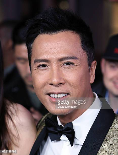 Actor Donnie Yen attends the premiere of Paramount Pictures' 'xXx Return of Xander Cage' at TCL Chinese Theatre IMAX on January 19 2017 in Hollywood...