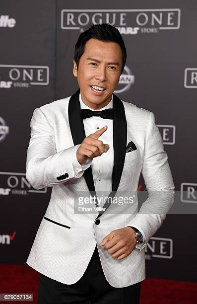 Actor Donnie Yen attends the premiere of Walt Disney Pictures and Lucasfilm's 'Rogue One A Star Wars Story' at the Pantages Theatre on December 10...