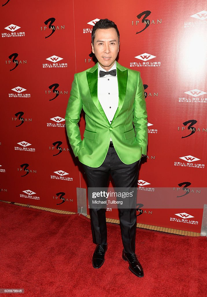 Actor Donnie Yen attends the premiere of Well Go USA's 'Ip Man 3' at Pacific Theatres at The Grove on January 20 2016 in Los Angeles California