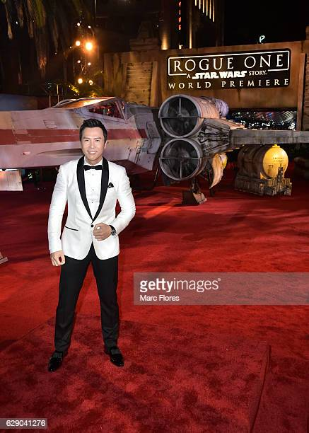Actor Donnie Yen attends The World Premiere of Lucasfilm's highly anticipated firstever standalone Star Wars adventure 'Rogue One A Star Wars Story'...