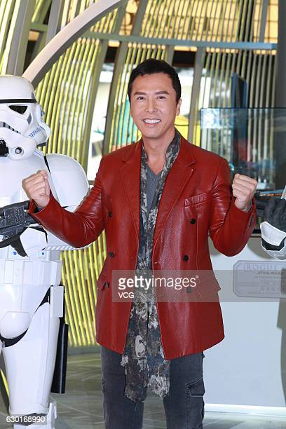 Actor Donnie Yen Jidan attends the propaganda of film 'Rogue One A Star Wars Story' on December 17 2016 in Hong Kong China