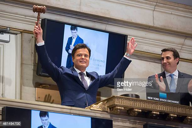 Actor Donny Osmond rings the Closing Bell at New York Stock Exchange on January 13 2015 in New York City