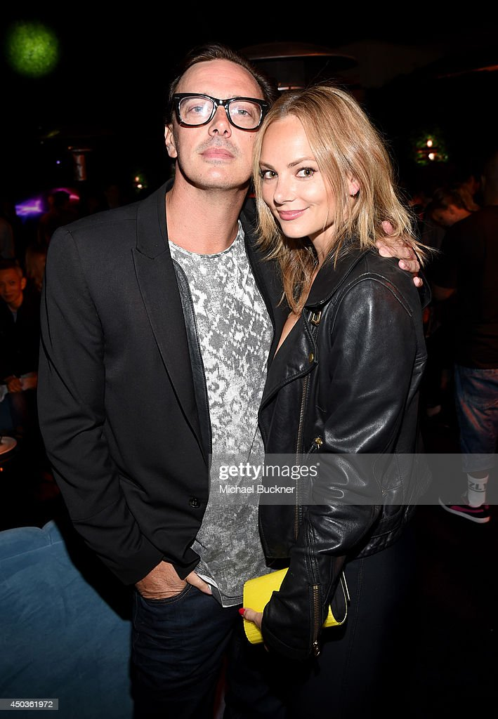 Actor Donovan Leitch Jr. (L) and Libby Mintz attend the Take-Two E3 Kickoff Party at Cecconi's Restaurant on June 9, 2014 in Los Angeles, California.