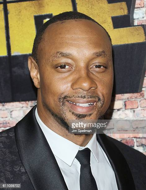 Actor Dorian Missick attends the 'Luke Cage' New York premiere at AMC Magic Johnson Harlem on September 28 2016 in New York City