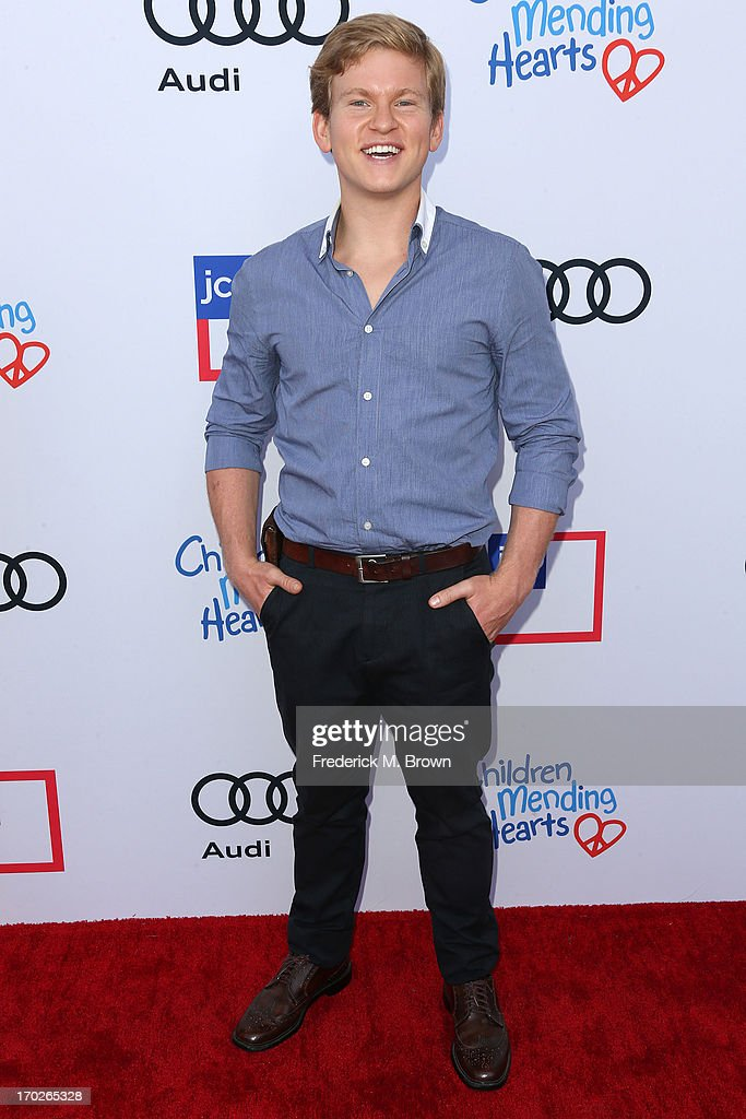 Actor Doug Brochu attends the First Annual Children Mending Hearts Style Sunday on June 9, 2013 in Beverly Hills, California.