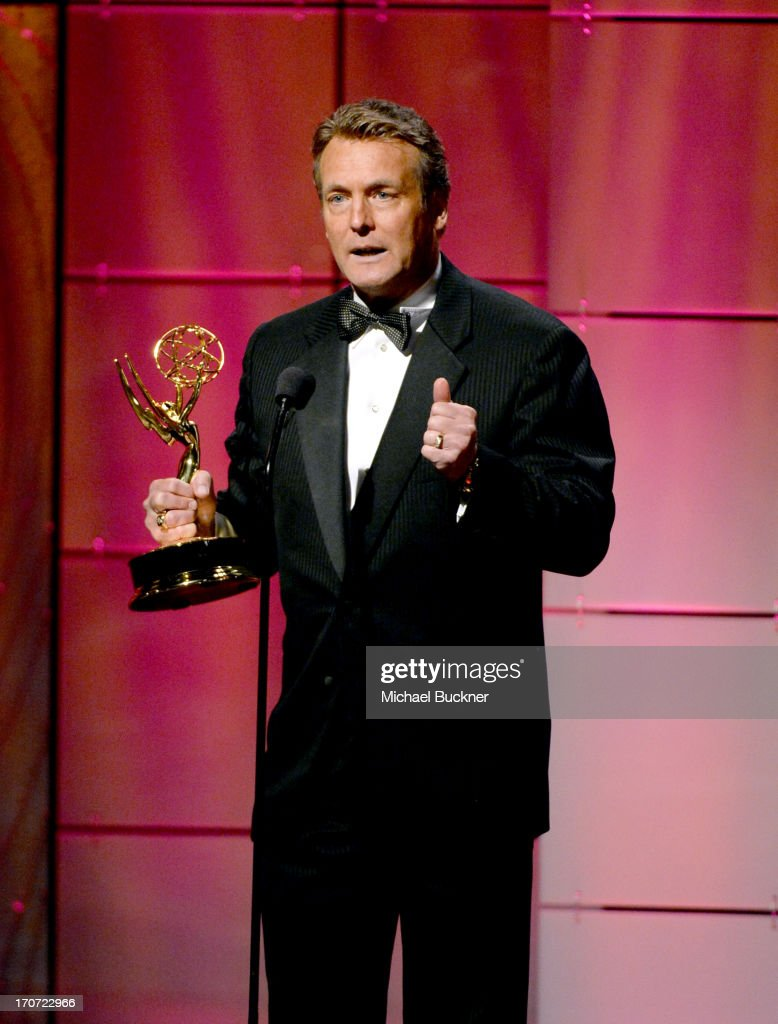Actor Doug Davidson accepts the Outstanding Lead Actor in a Drama Series award for 'The Young and the Restless' onstage during the 40th Annual Daytime Emmy Awards at the Beverly Hilton Hotel on June 16, 2013 in Beverly Hills, California. 23774_001_1366.JPG