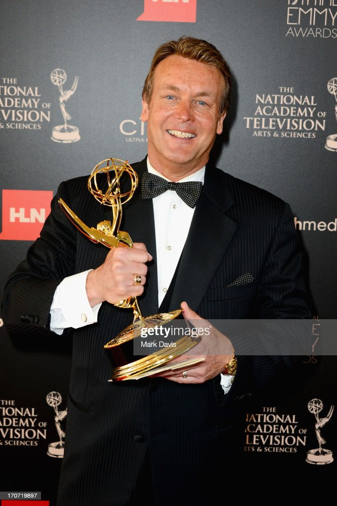 Actor Doug Davidson poses with the Outstanding Lead Actor in a Drama Series award for 'The Young and the Restless' in the press room during The 40th Annual Daytime Emmy Awards at The Beverly Hilton Hotel on June 16, 2013 in Beverly Hills, California.