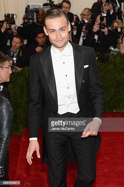 Actor Douglas Booth attends the 'Charles James Beyond Fashion' Costume Institute Gala at the Metropolitan Museum of Art on May 5 2014 in New York City