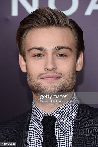 Actor Douglas Booth attends the 'Noah' New York premiere at Ziegfeld Theatre on March 26 2014 in New York City