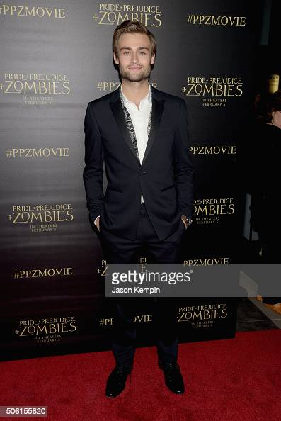 Actor Douglas Booth attends the premiere of Screen Gems' 'Pride and Prejudice and Zombies' on January 21 2016 in Los Angeles California