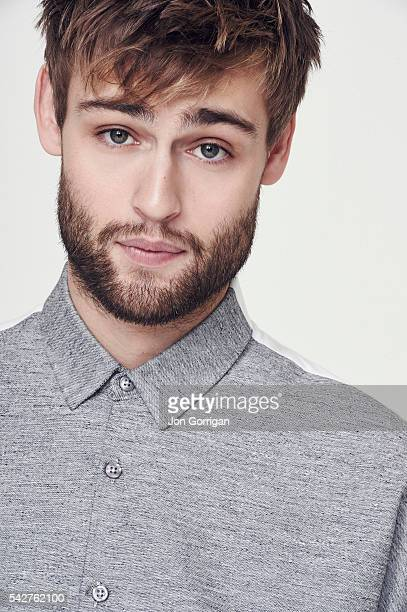 Actor Douglas Booth is photographed for the Guardian on February 11 2015 in London England