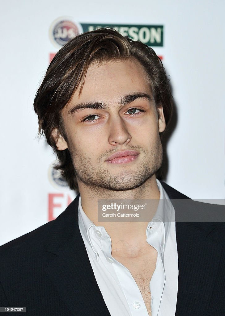 Actor Douglas Booth is pictured arriving at the Jameson Empire Awards at Grosvenor House on March 24, 2013 in London, England.