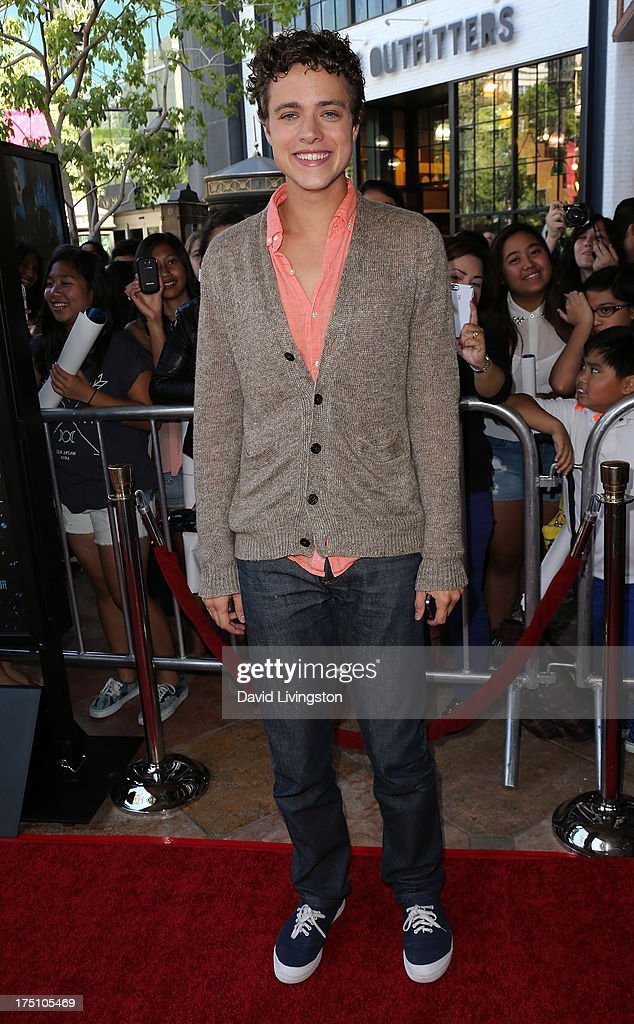 Actor Douglas Smith attends a screening of Twentieth Century Fox and Fox 2000's 'Percy Jackson: Sea of Monsters' at The Americana at Brand on July 31, 2013 in Glendale, California.