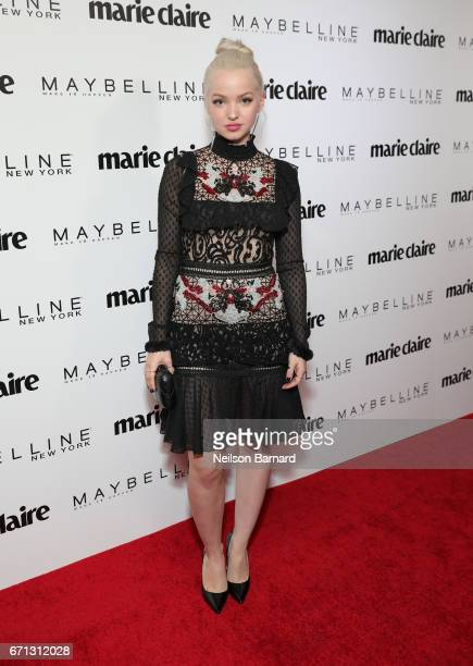 Actor Dove Cameron attends Marie Claire's 'Fresh Faces' celebration with an event sponsored by Maybelline at Doheny Room on April 21 2017 in West...