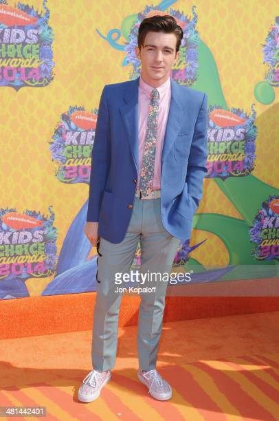 Actor Drake Bell arrives at Nickelodeon's 27th Annual Kids' Choice Awards at USC Galen Center on March 29 2014 in Los Angeles California