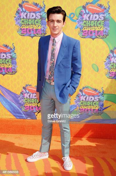 Actor Drake Bell attends Nickelodeon's 27th Annual Kids' Choice Awards held at USC Galen Center on March 29 2014 in Los Angeles California