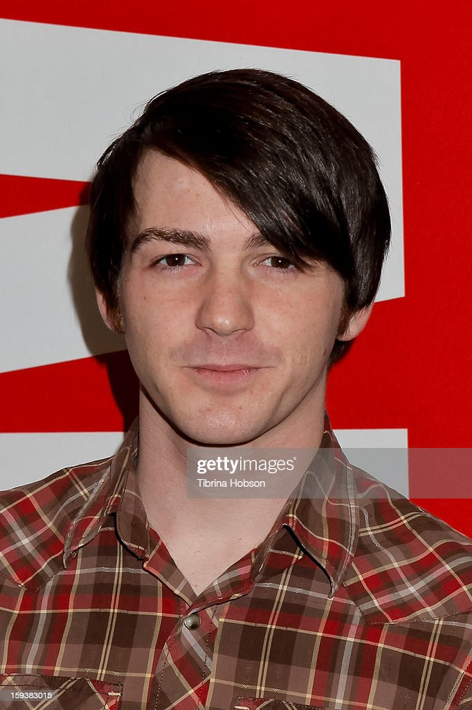 Actor Drake Bell attends 'Reading With: Marvel Comics Close-Up' kick-off event at the Burbank Public Library on January 12, 2013 in Burbank, California.