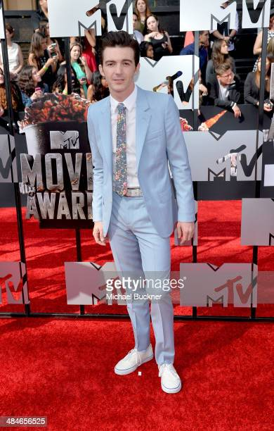 Actor Drake Bell attends the 2014 MTV Movie Awards at Nokia Theatre LA Live on April 13 2014 in Los Angeles California
