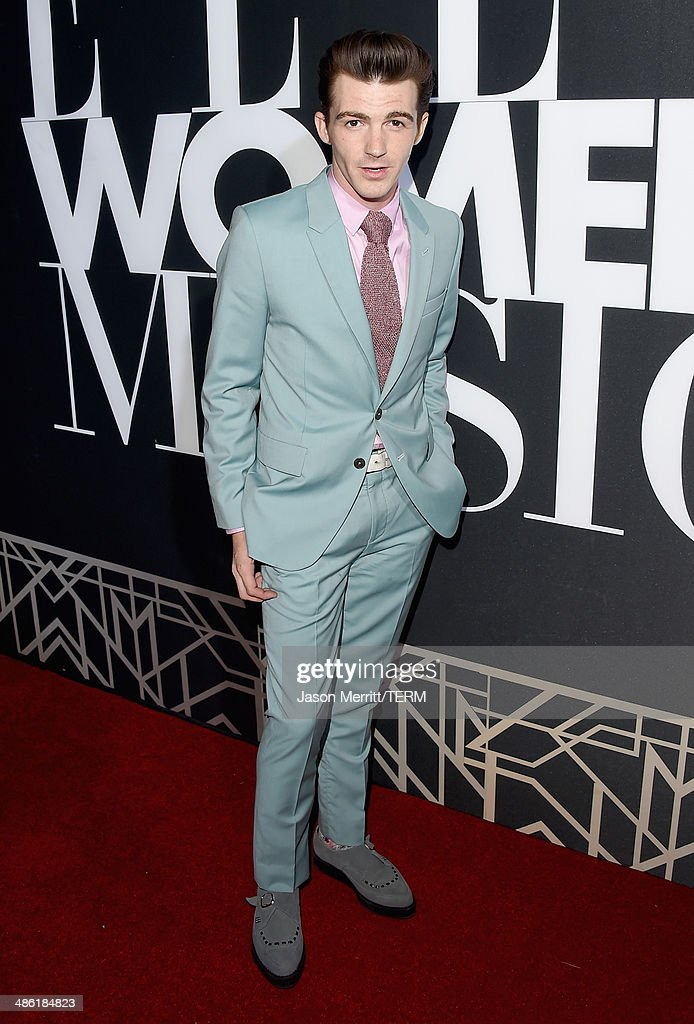 Actor <a gi-track='captionPersonalityLinkClicked' href=/galleries/search?phrase=Drake+Bell&family=editorial&specificpeople=215051 ng-click='$event.stopPropagation()'>Drake Bell</a> attends the 5th Annual ELLE Women in Music Celebration presented by CUSP by Neiman Marcus. Hosted by ELLE Editor-in-Chief Robbie Myers with performances by Sarah McLachlan, Angel Haze and Betty Who, with special DJ set by Rumer Willis at Avalon on April 22, 2014 in Hollywood, California.
