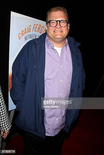 Actor Drew Carey arrives at the launch party for Craig Ferguson's novel 'Between The Bridge and the River' held at The Tropicana Bar at the Roosevelt...