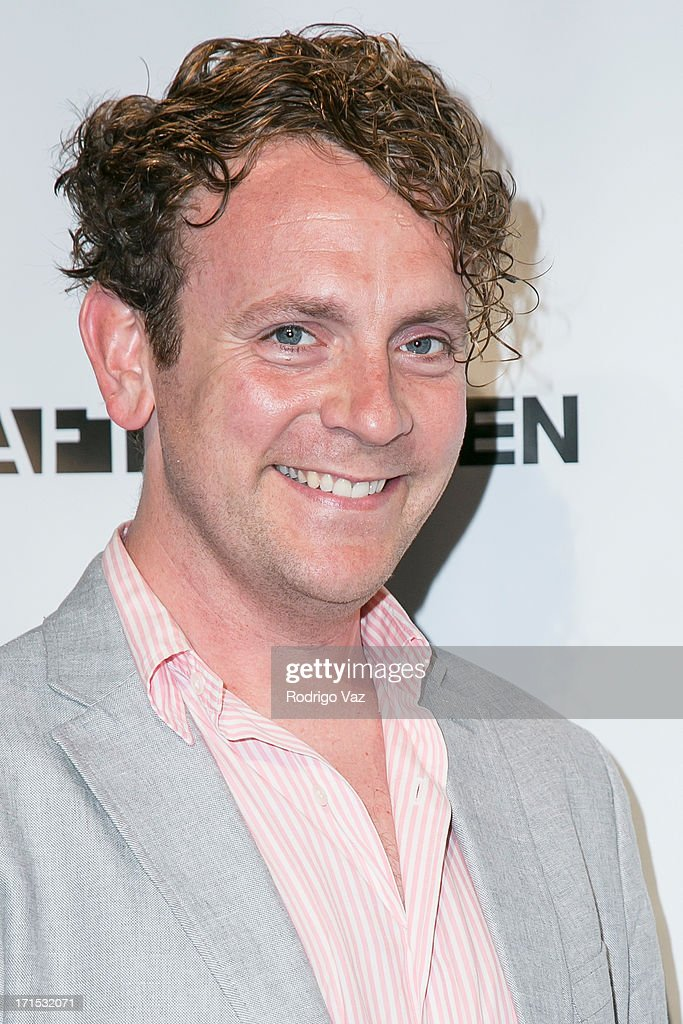 Actor Drew Droege arrives at Logo's 'Hot 100' Party at Drai's Lounge in W Hollywood on June 25, 2013 in Hollywood, California.
