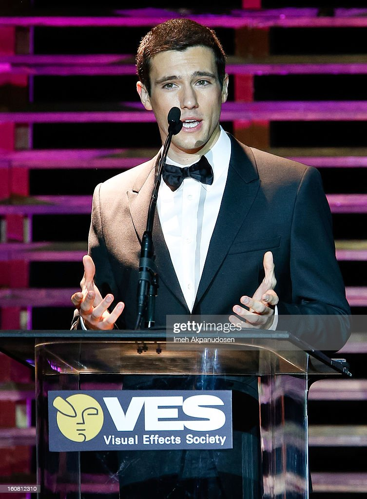 Actor Drew Roy speaks onstage at the 11th Annual Visual Effects Society Awards at The Beverly Hilton Hotel on February 5, 2013 in Beverly Hills, California.