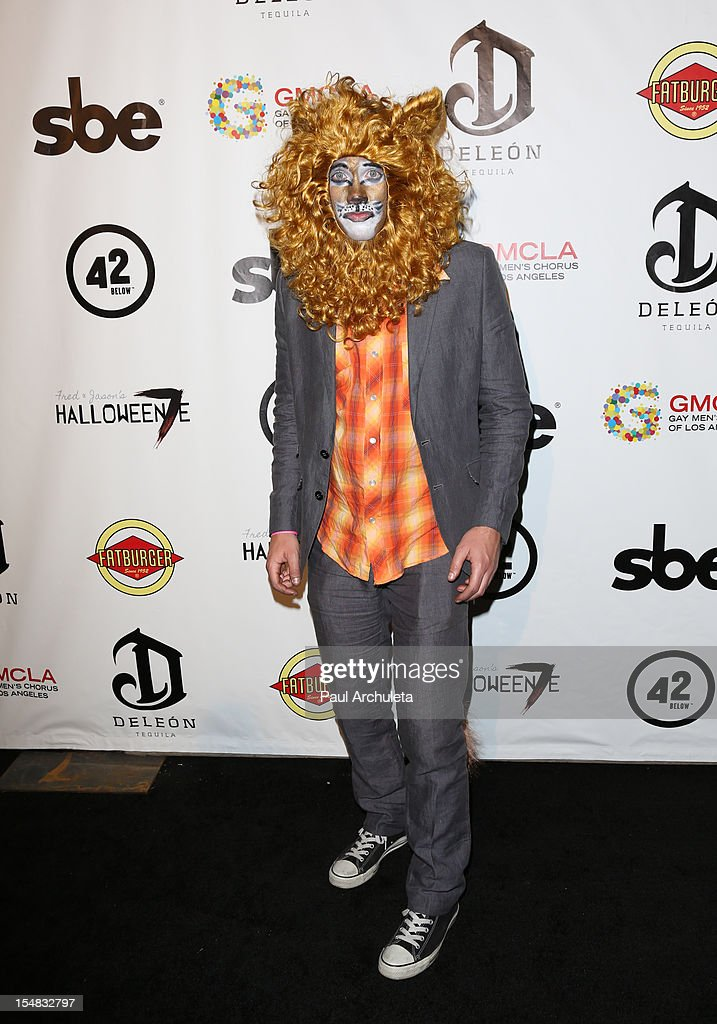 Actor <a gi-track='captionPersonalityLinkClicked' href=/galleries/search?phrase=Drew+Seeley&family=editorial&specificpeople=835160 ng-click='$event.stopPropagation()'>Drew Seeley</a> attends Fred & Jason's annual Halloweenie charity event at The Lot on October 26, 2012 in West Hollywood, California.