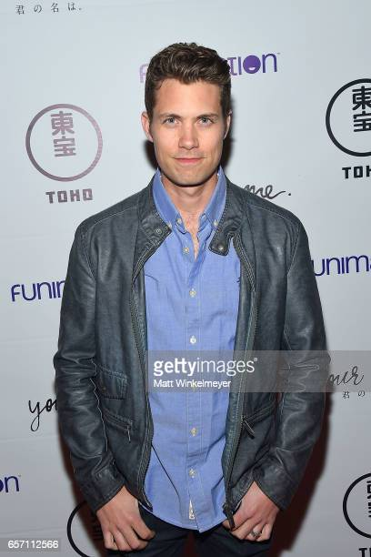 Actor Drew Seeley attends Funimation Films presents 'Your Name' Theatrical Premiere in Los Angeles CA at Yamashiro Hollywood on March 23 2017 in Los...