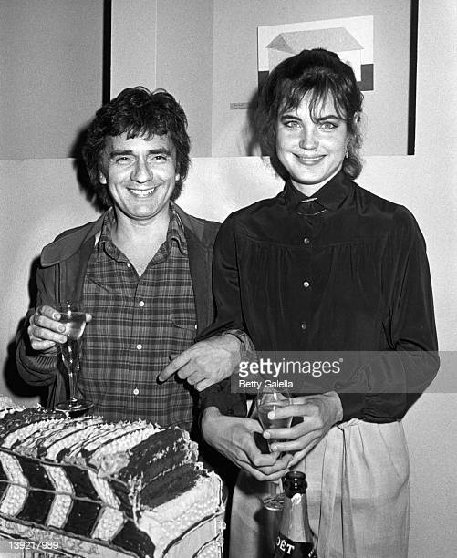 Actor Dudley Moore and actress Elizabeth McGovern attend the wrap party for 'Lovesick' on May 16 1982 at Central Falls Restaurant in New York City