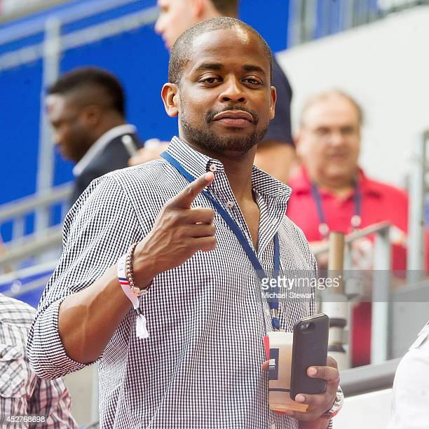 Actor Dule Hill attends Arsenal vs Red Bull friendly match at Red Bull Arena on July 26 2014 in Harrison New Jersey