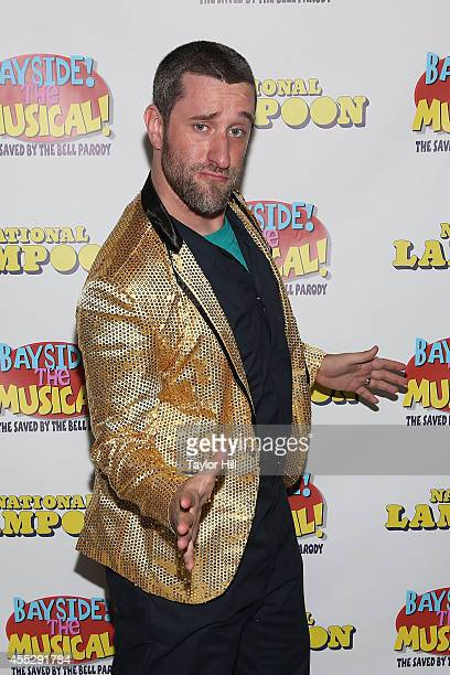 Actor Dustin Diamond attends the soldout opening performance of 'Bayside The Musical' at Theatre 80 St Marks on September 11 2014 in New York City