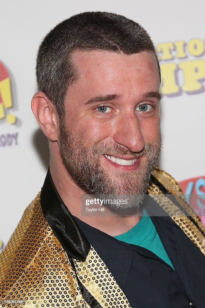 Actor <a gi-track='captionPersonalityLinkClicked' href=/galleries/search?phrase=Dustin+Diamond&family=editorial&specificpeople=895493 ng-click='$event.stopPropagation()'>Dustin Diamond</a> attends the sold-out opening performance of 'Bayside! The Musical!' at Theatre 80 St. Marks on September 11, 2014 in New York City.