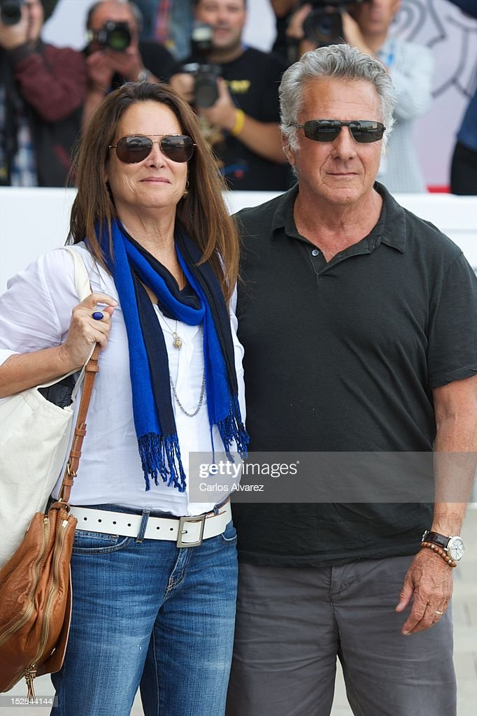 Actor <a gi-track='captionPersonalityLinkClicked' href=/galleries/search?phrase=Dustin+Hoffman&family=editorial&specificpeople=171356 ng-click='$event.stopPropagation()'>Dustin Hoffman</a> and his wife Lisa Gottsegen arrive at the Maria Cristina Hotel during 60th San Sebastian International Film Festival on September 27, 2012 in San Sebastian, Spain.
