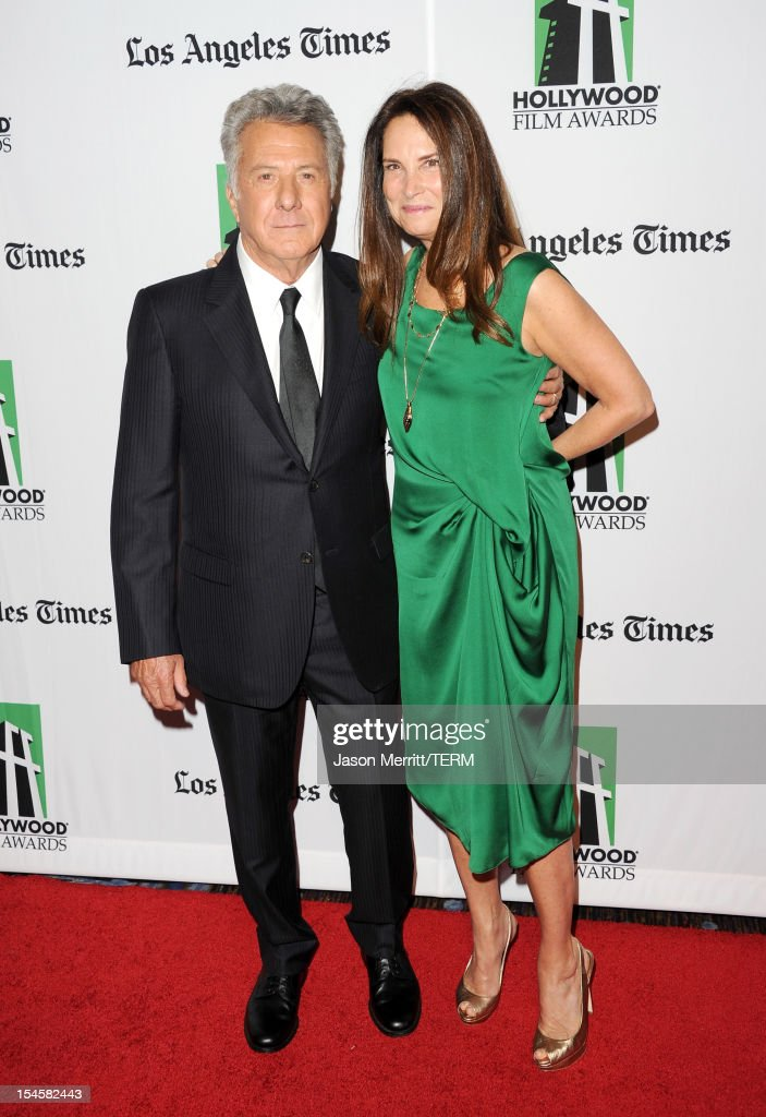 Actor <a gi-track='captionPersonalityLinkClicked' href=/galleries/search?phrase=Dustin+Hoffman&family=editorial&specificpeople=171356 ng-click='$event.stopPropagation()'>Dustin Hoffman</a> and Lisa Gottsegen arrive at the 16th Annual Hollywood Film Awards Gala presented by The Los Angeles Times held at The Beverly Hilton Hotel on October 22, 2012 in Beverly Hills, California.