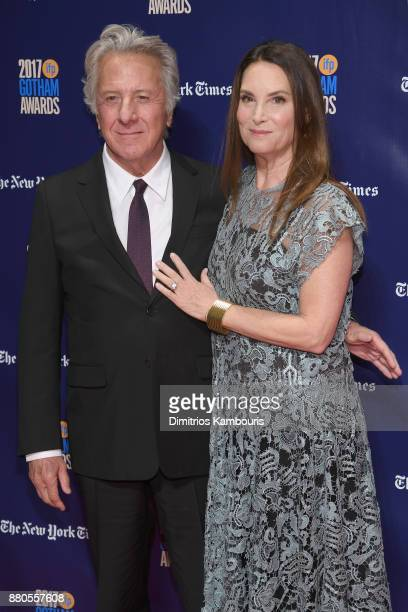 Actor Dustin Hoffman and Lisa Hoffman attend IFP's 27th Annual Gotham Independent Film Awards on November 27 2017 in New York City